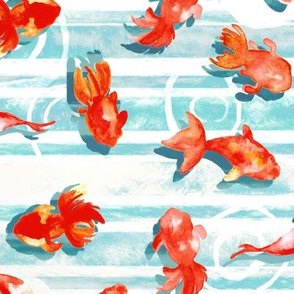 Watercolor Goldfish (Large Version)