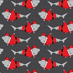 Santa Jaws on Dark Grey - small scale