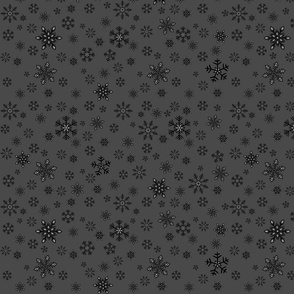 small - snowflakes on charcoal