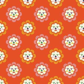 folk art sun | orange