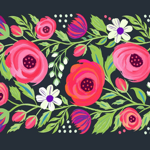 Folk Art Roses