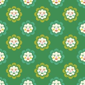 folk art sun | green