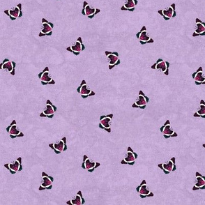 Scattered Pink Admiral Butterflies on Lavender Texture