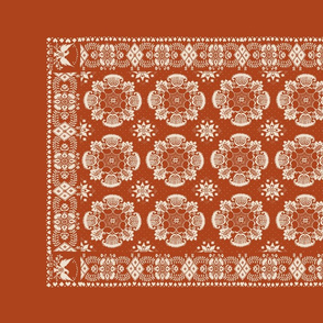 American Coverlet in Orange