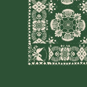 American Coverlet in Green