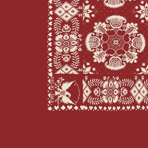 American Coverlet in Red