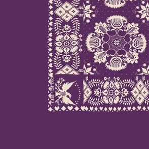 American Coverlet in Purple