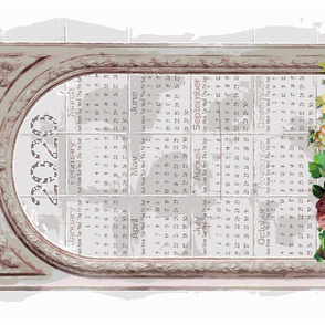 Shabby Chic Tea Towel Calendar-Enlarged