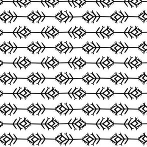 small - pattern study two on white sideways