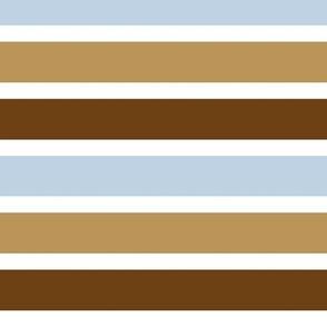 FS Acorns Blue Brown Stripe