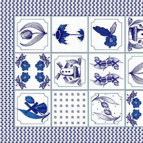 Dutch Delft Tiles Tea Towel