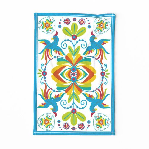 Fionnuala Folk Art Tea Towel
