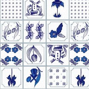 Medium Dutch Delft Tiles