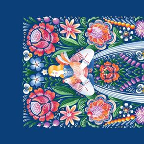 Belarusian folk art tea towel