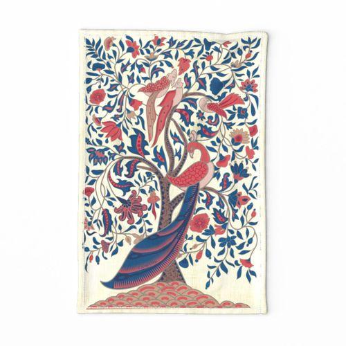 Tree of Life Palampore- Folk Art Tea Towel