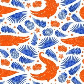 See you later, alligator (orange & blue 4)