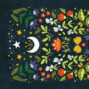 Night Garden Tea Towel