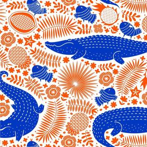 See you later, alligator (orange & blue 3)