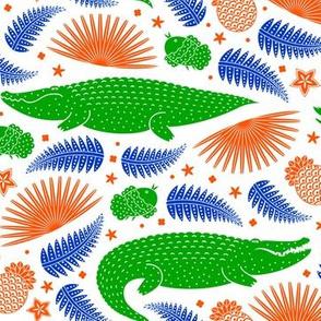 See you later, alligator (orange & blue 2)
