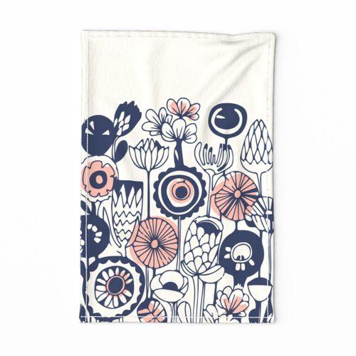 Folk Art Tea Towel