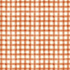 (micro scale) Pumpkin Spice watercolor plaid - fall - thanksgiving  - LAD19BS