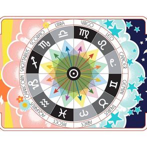 Zodiac_tea_towel*_%7c%7c_astrology_cut_and_sew_kitchen_barware_bar_signs_flowers_stars_sun_sunset_sunrise_moon_pop_art_rainbow_arrows_night_day_bird_print_poster_wall_hanging