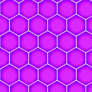 Hexagons - Magenta Berry (Large Scale)