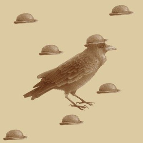 crow w bowler hat