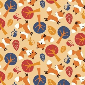 Fox kits - autumn - small scale