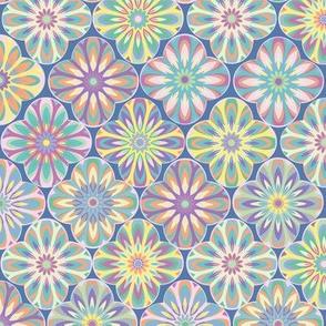 mandala flower purple