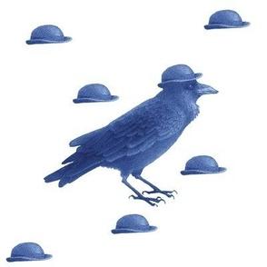crow w bowler hat (blue)