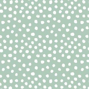 painted dots - nursery dots - sfx6009 seaglass - dots fabric, painted dots, dots wallpaper, painted dots wallpaper - baby, nursery
