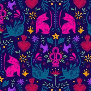 Mexican Folk Art Dark Background