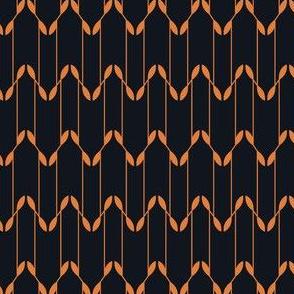 Geometric Leaves - Black&Gold