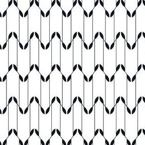 Geometric Leaves - White&Black