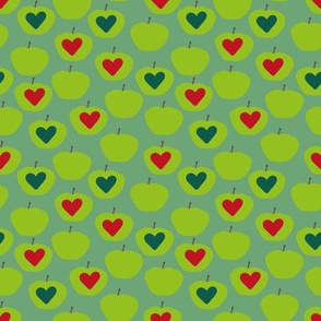 green apples with hearts by rysunki_malunki