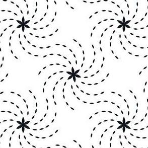 Geometric Sunflower Seeds - White&Black
