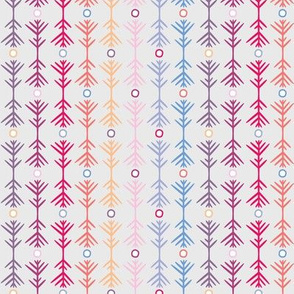 small - pattern study one in pastels