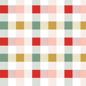 Christmas Rainbow Gingham 3x3
