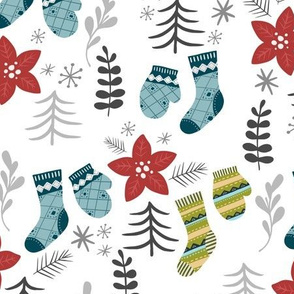 Christmas Socks-White