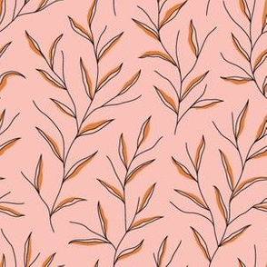 Autumn Leaves - Pink&Black&Gold