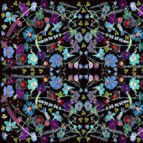 kaleidescope midnight  floral 150
