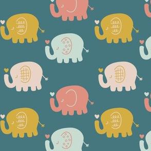 Elephants | Teal
