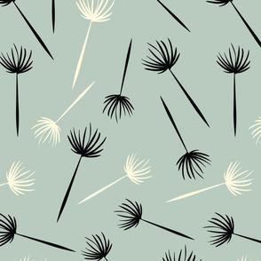 MCM Dandelions Black Blue White