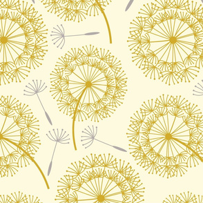 MCM Dandelions Gold Gray