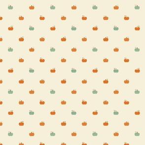 Pumpkin Polka Dot (White)
