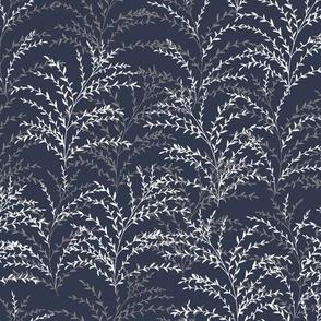Chrysanthe Blossom - Dark Blue Gray
