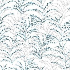 Chrysanthe Blossom Blue Gray