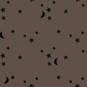 stars and moons 8425 black