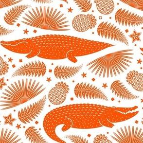 See you later, alligator (Orange & White) Large